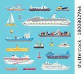 Sea Transport Set Of Water...