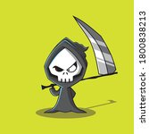 a grim reaper character that is ...   Shutterstock .eps vector #1800838213