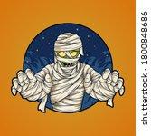 halloween mummy character... | Shutterstock .eps vector #1800848686