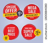 sale and special offer tag ... | Shutterstock .eps vector #1800884080