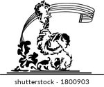 musical staff with floral... | Shutterstock .eps vector #1800903