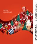 christmas paper cut out winter...   Shutterstock .eps vector #1800903133