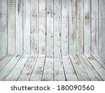White Wooden Wall And Floor...