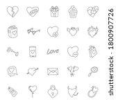 heart love hand drawn linear...