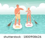 happy couple of young people... | Shutterstock .eps vector #1800908626
