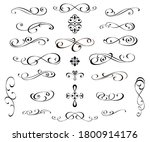 set of decorative elements for... | Shutterstock .eps vector #1800914176