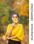 Cheerful Woman Portrait With...