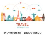 travel by plane around the... | Shutterstock .eps vector #1800940570
