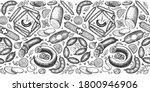 vintage vector meat products... | Shutterstock .eps vector #1800946906