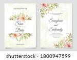 flower wedding invitations... | Shutterstock .eps vector #1800947599
