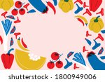big set of vegetables for... | Shutterstock .eps vector #1800949006