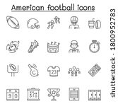 set of american football... | Shutterstock .eps vector #1800952783