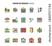 vector icons related to home...
