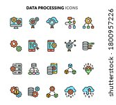 vector icons related to data... | Shutterstock .eps vector #1800957226