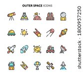 flat color and outlined vector... | Shutterstock .eps vector #1800957250