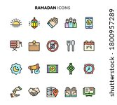 vector icons related to islam... | Shutterstock .eps vector #1800957289