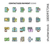 vector icons related to... | Shutterstock .eps vector #1800957346