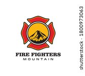 simple and modern fire fighter... | Shutterstock .eps vector #1800973063