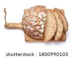 sliced bread on wooden cutting... | Shutterstock . vector #1800990103