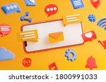 social media concept. cartoon... | Shutterstock . vector #1800991033