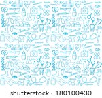 medical icon vector seamless... | Shutterstock .eps vector #180100430