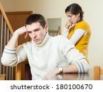 young family conflict. young... | Shutterstock . vector #180100670