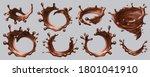 splash chocolate vector...   Shutterstock .eps vector #1801041910