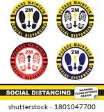 maintain social distancing... | Shutterstock .eps vector #1801047700