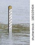 flood level depth marker post... | Shutterstock . vector #180105404
