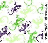 watercolor vector pattern... | Shutterstock .eps vector #1801069339