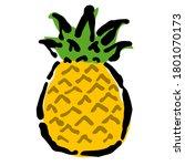 illustration of pineapple ... | Shutterstock .eps vector #1801070173