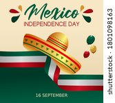 mexico independence day vector... | Shutterstock .eps vector #1801098163