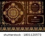 set of vintage elements for... | Shutterstock .eps vector #1801120573