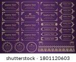 set of vintage elements for... | Shutterstock .eps vector #1801120603