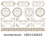 set of vintage elements for... | Shutterstock .eps vector #1801120633