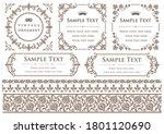 set of vintage elements for... | Shutterstock .eps vector #1801120690