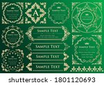 set of vintage elements for... | Shutterstock .eps vector #1801120693