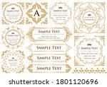 set of vintage elements for... | Shutterstock .eps vector #1801120696
