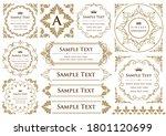 set of vintage elements for... | Shutterstock .eps vector #1801120699