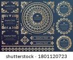 set of vintage elements for... | Shutterstock .eps vector #1801120723
