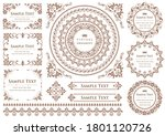set of vintage elements for... | Shutterstock .eps vector #1801120726