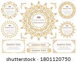 set of vintage elements for... | Shutterstock .eps vector #1801120750