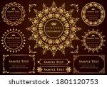 set of vintage elements for... | Shutterstock .eps vector #1801120753