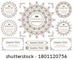 set of vintage elements for... | Shutterstock .eps vector #1801120756