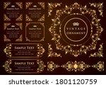 set of vintage elements for... | Shutterstock .eps vector #1801120759