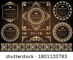 set of vintage elements for... | Shutterstock .eps vector #1801120783
