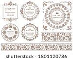 set of vintage elements for... | Shutterstock .eps vector #1801120786