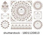 set of vintage elements for... | Shutterstock .eps vector #1801120813