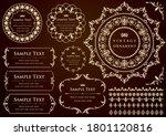 set of vintage elements for... | Shutterstock .eps vector #1801120816