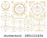 vintage ornament set. flourish... | Shutterstock .eps vector #1801121656